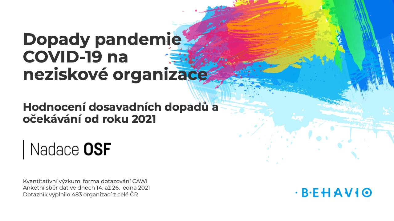 Dopady pandemie COVID-19 na neziskové organizace